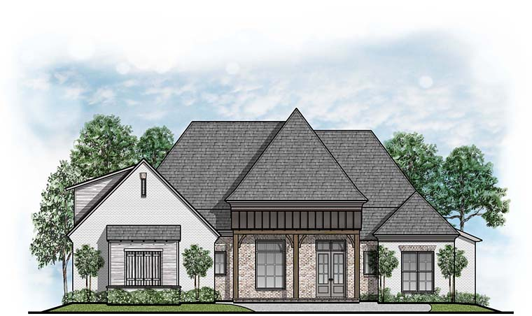 Country European Southern House Plan 41653 Elevation