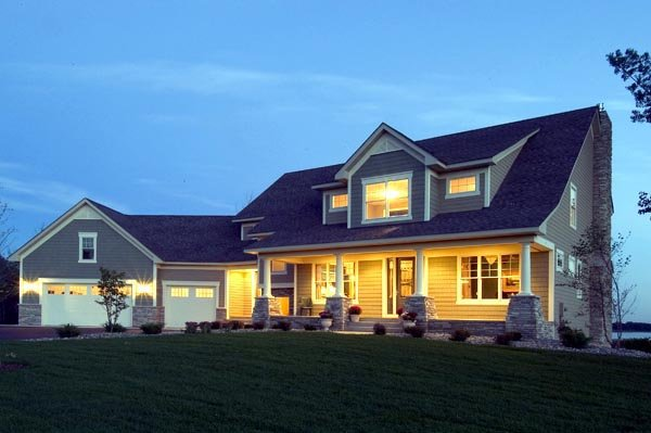 Cape Cod Country Traditional House Plan 42001