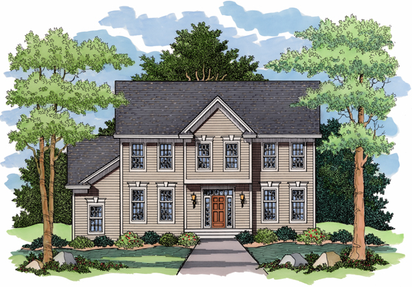 Colonial European Traditional House Plan 42010 Elevation