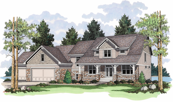 European Traditional House Plan 42017 Elevation