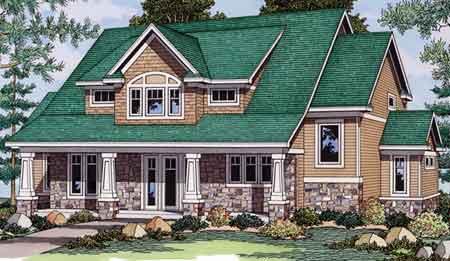 European House Plan 42019 Elevation