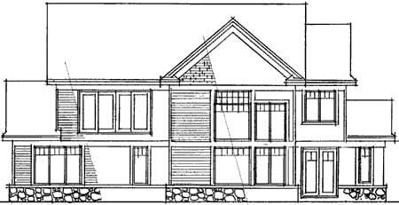 European House Plan 42019 Rear Elevation