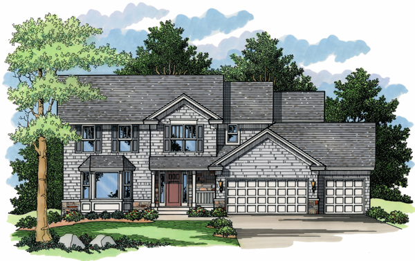Colonial European Traditional House Plan 42032 Elevation