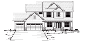 Colonial , European , Traditional House Plan 42036 with 4 Beds, 3 Baths, 3 Car Garage Elevation