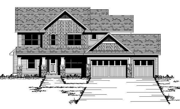 Craftsman European Traditional House Plan 42061 Elevation