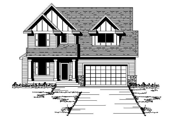 Craftsman Traditional House Plan 42080 Elevation