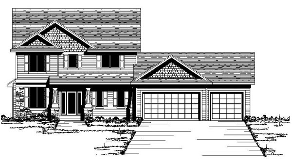 Colonial European Traditional House Plan 42084 Elevation