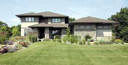 Prairie Style , Southwest House Plan 42130 with 3 Beds, 3 Baths, 3 Car Garage Elevation