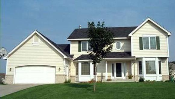 Traditional House Plan 42138 with 4 Beds, 3 Baths, 2 Car Garage Elevation