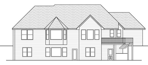 Traditional House Plan 42330 Rear Elevation
