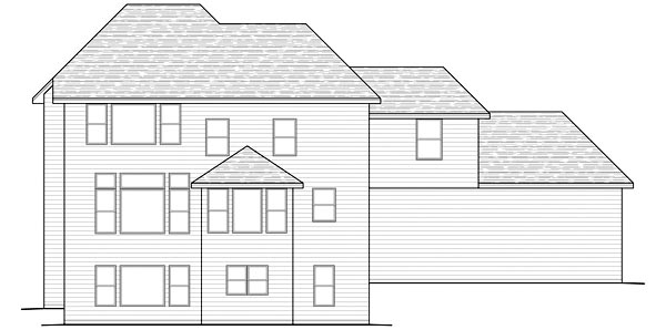 Traditional House Plan 42475 Rear Elevation