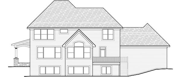 Traditional House Plan 42477 Rear Elevation