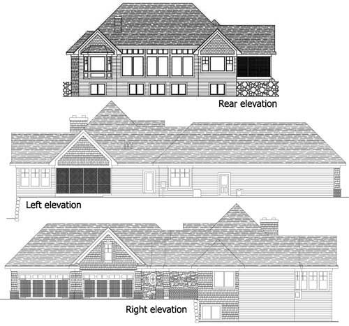 European, Traditional House Plan 42486 with 4 Beds, 4 Baths, 4 Car Garage Picture 12