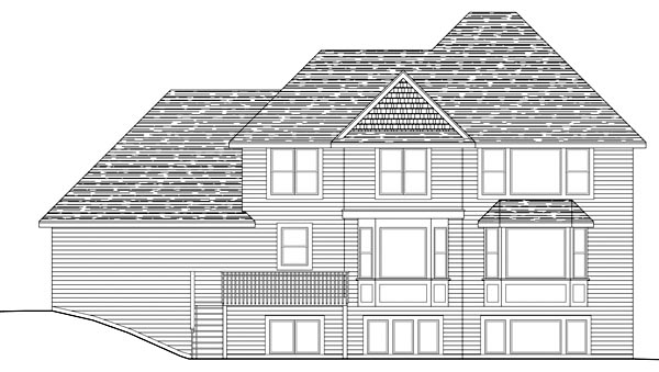 Traditional House Plan 42495 Rear Elevation