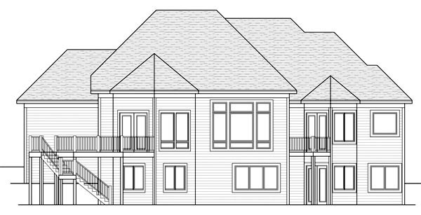 European Ranch Traditional House Plan 42508 Rear Elevation