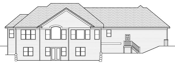 Ranch Traditional House Plan 42510 Rear Elevation