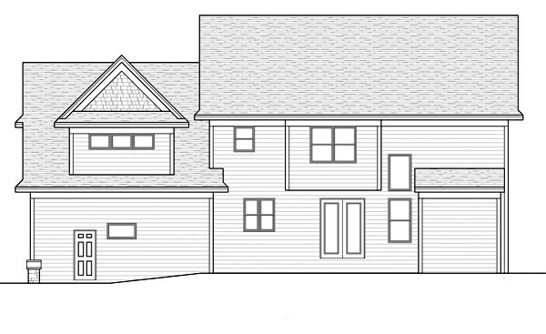 Craftsman Traditional House Plan 42516 Rear Elevation