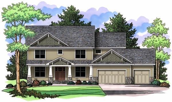 Craftsman Traditional House Plan 42520 Elevation