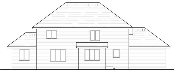 Country, Craftsman, Traditional House Plan 42539 with 4 Beds, 3 Baths, 3 Car Garage Rear Elevation
