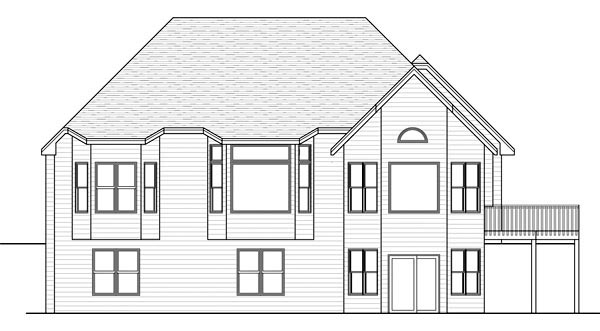 Traditional House Plan 42571 Rear Elevation