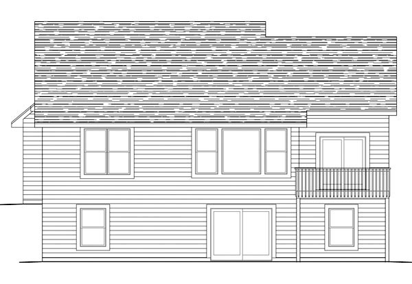 Traditional House Plan 42575 Rear Elevation