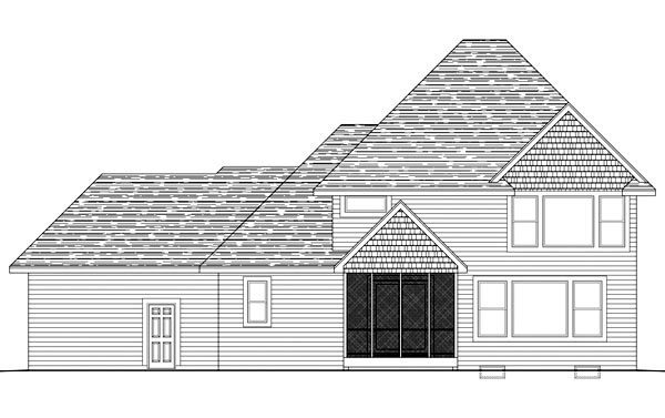 Traditional House Plan 42587 Rear Elevation