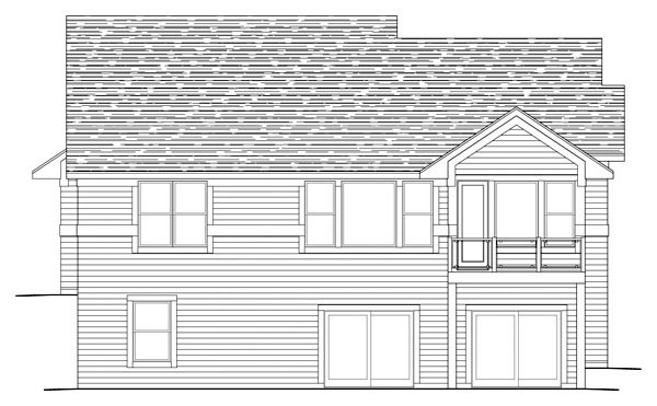 Traditional House Plan 42592 Rear Elevation