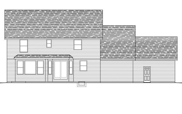 Traditional House Plan 42600 Rear Elevation