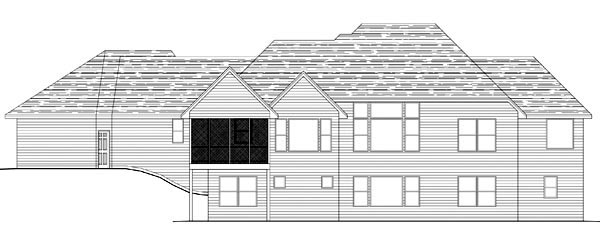 European House Plan 42602 Rear Elevation