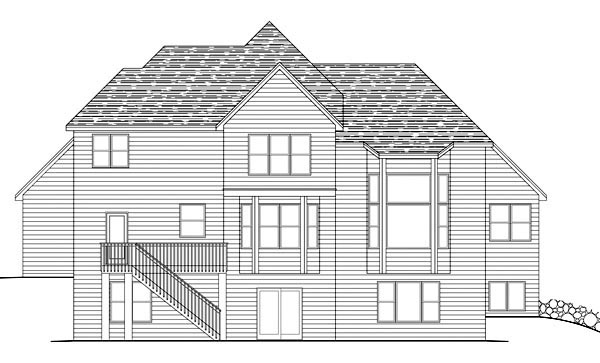 Traditional House Plan 42604 Rear Elevation