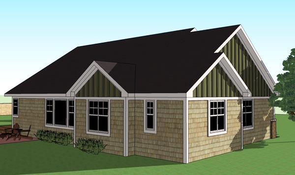 Traditional House Plan 42617 Rear Elevation