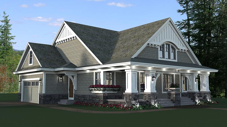 House plan 42618 at for Traditional craftsman house plans