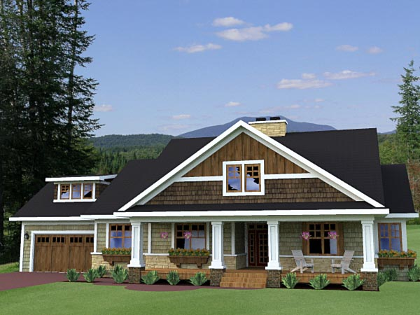 Craftsman Traditional House Plan 42619 Elevation