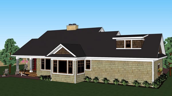 Craftsman Traditional House Plan 42619 Rear Elevation