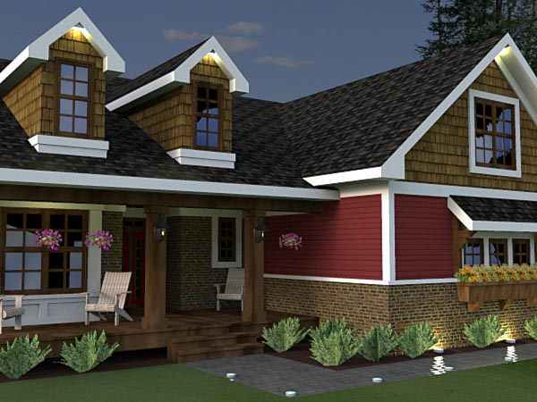 Craftsman House Plan 42623 with 3 Beds, 2 Baths, 2 Car Garage Picture 1