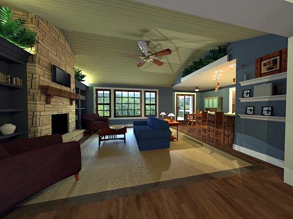 Craftsman House Plan 42623 with 3 Beds, 2 Baths, 2 Car Garage Picture 7