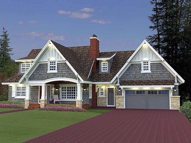 House plan 42646 at for Country craftsman home plans