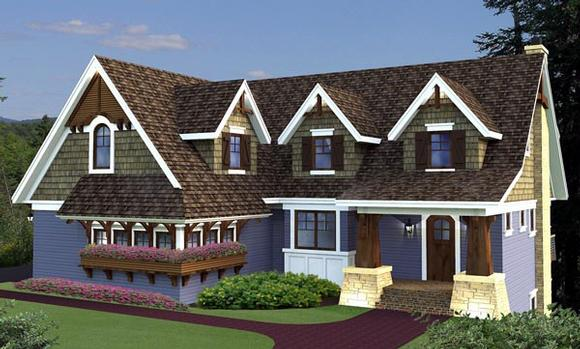 House Plan 42647 with 4 Beds, 4 Baths, 3 Car Garage Elevation