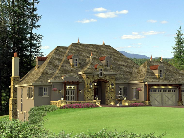 House plan 42649 at for French country house pictures