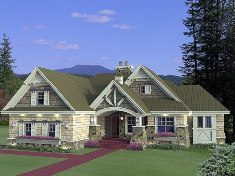 House Plan At FamilyHomePlanscom - Craftsman house plans and homes and craftsman floor plans