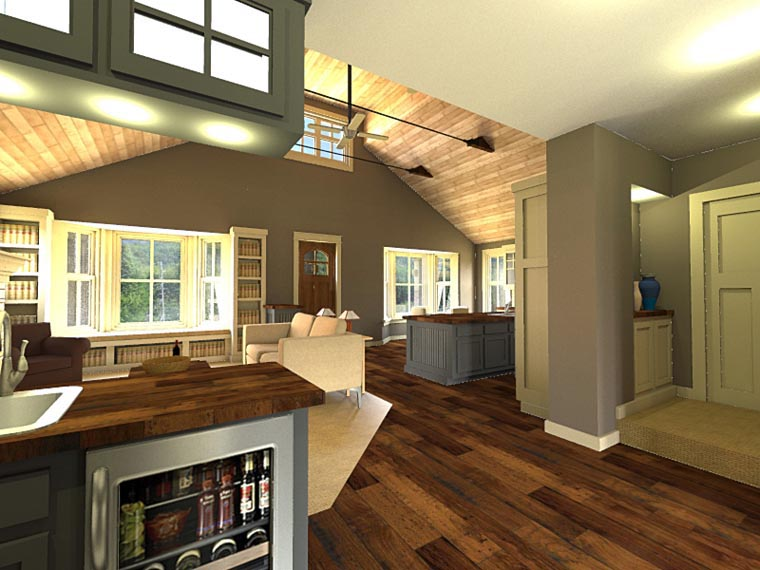 Craftsman House Plan 42653 with 3 Beds, 3 Baths, 2 Car Garage Picture 3