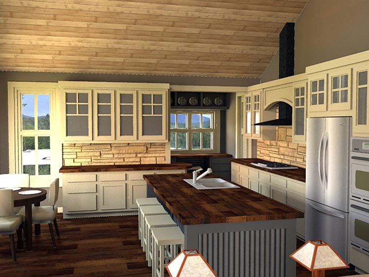 Craftsman House Plan 42653 with 3 Beds, 3 Baths, 2 Car Garage Picture 4