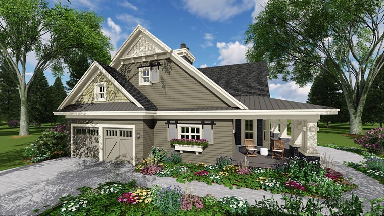 Craftsman House Plan 42653 with 3 Beds, 3 Baths, 2 Car Garage Picture 8