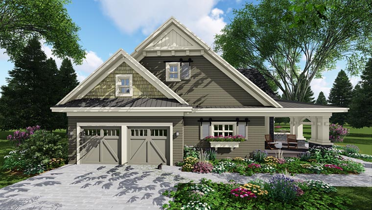 Craftsman House Plan 42653 with 3 Beds, 3 Baths, 2 Car Garage Picture 9