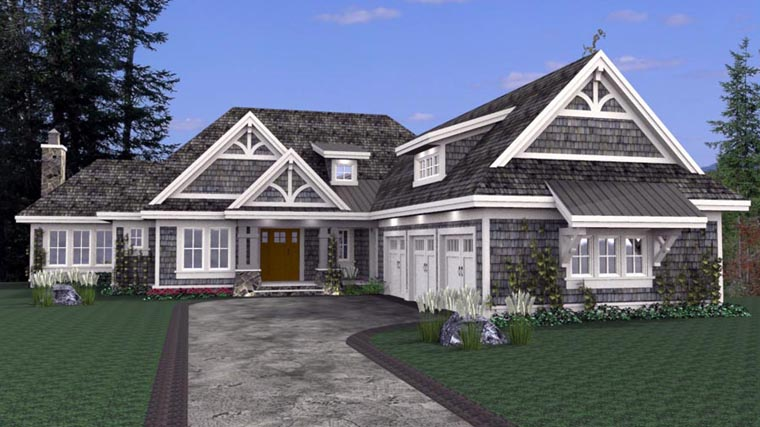 House Plan 42668 with 3 Beds, 4 Baths, 3 Car Garage Elevation