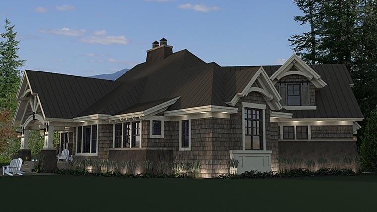 Bungalow, Cottage, Craftsman, Tudor House Plan 42675 with 3 Beds, 3 Baths, 2 Car Garage Picture 4