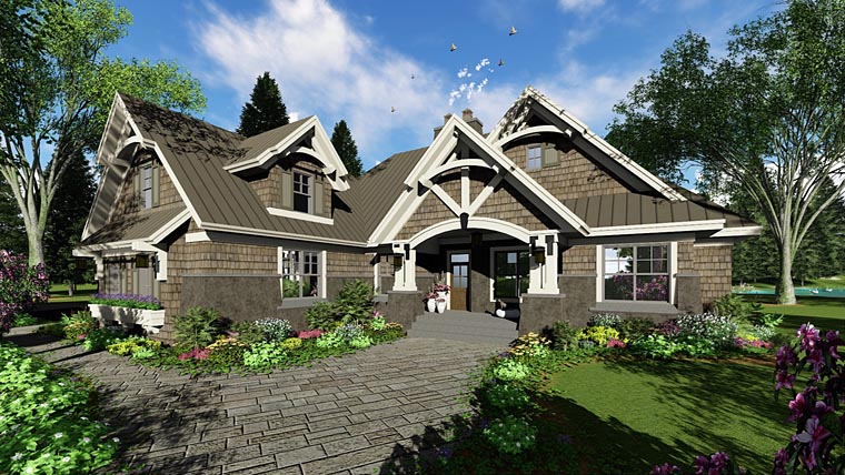 Bungalow Cottage Craftsman French Country Tudor House Plan 42676 Elevation