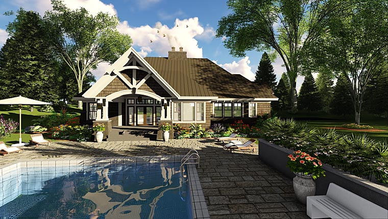 Bungalow Cottage Craftsman French Country Tudor House Plan 42676