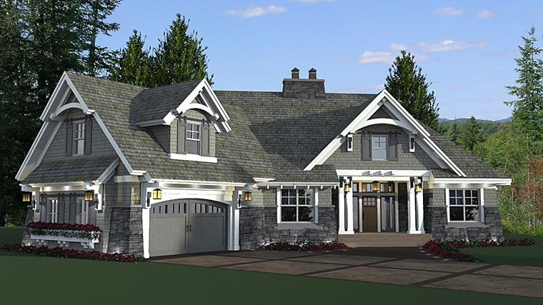 Bungalow Cottage Craftsman French Country Tudor House Plan 42679 Elevation