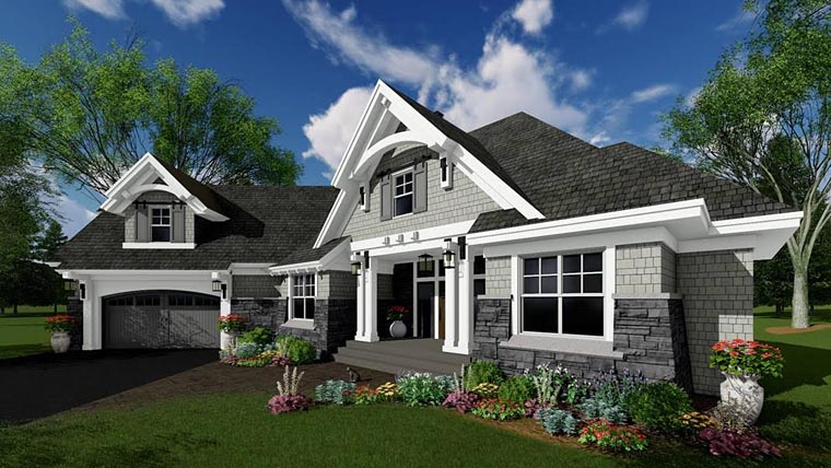Bungalow, Cottage, Craftsman, French Country, Tudor House Plan 42679 with 4 Beds, 3 Baths, 2 Car Garage Picture 3